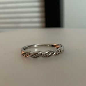 Silver braided ring from Kay!